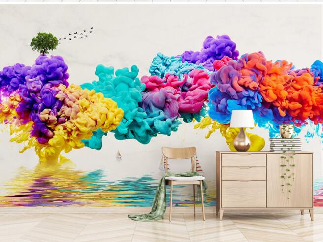 Фотообои Разноцветный дым