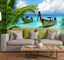 Фотообои лодки у острова