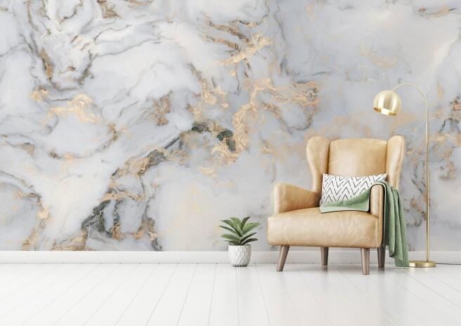 Фотообои золотой мрамор