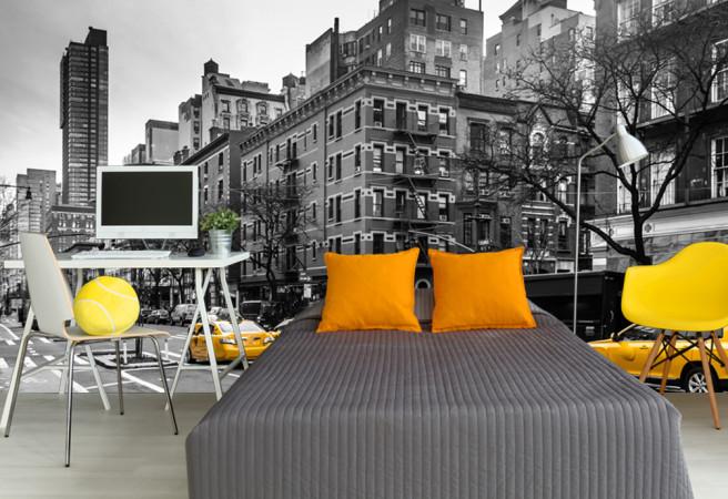 Фотообои черно-белый нью-йорк
