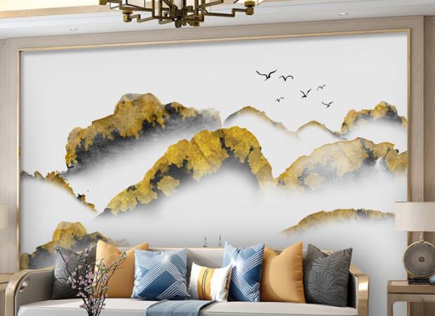 Золотые вершины в тумане