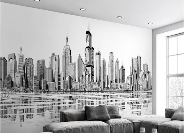 Черно-белые небоскребы
