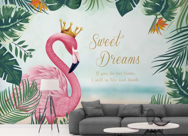 Король-фламинго в зарослях