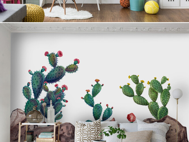 Фотообои Цветущие кактусы