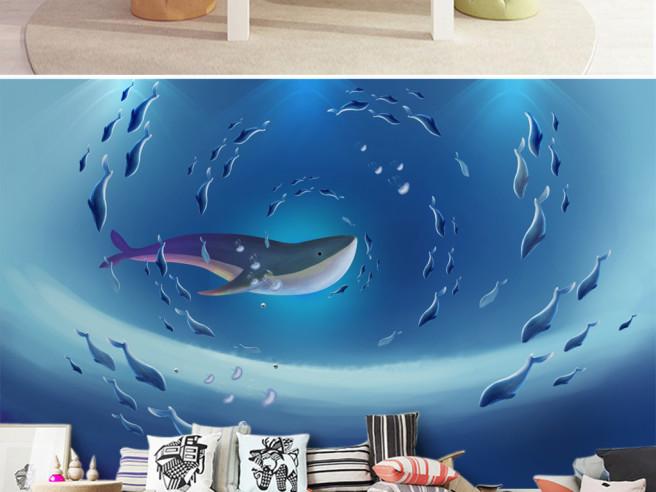 Фотообои Водоворот китов