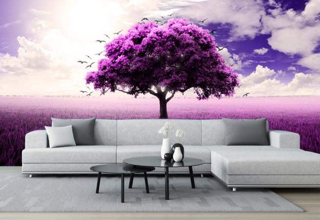 Фотообои фиолетовое дерево