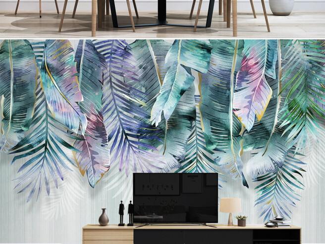 Фотообои Покрашенные листья пальм
