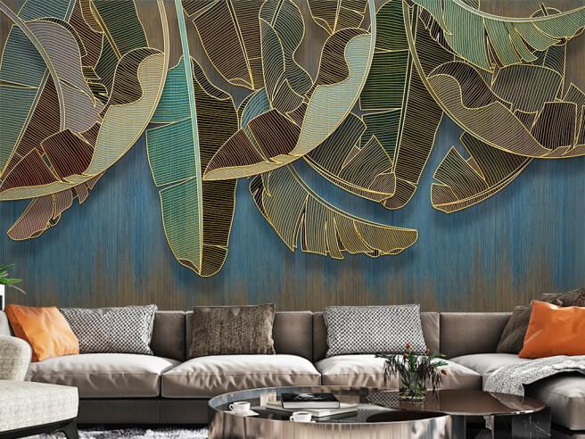 Прорисованные листья пальмы