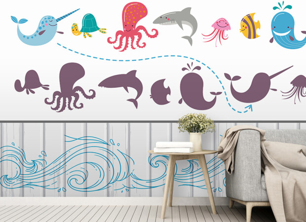Рисунки морских животных