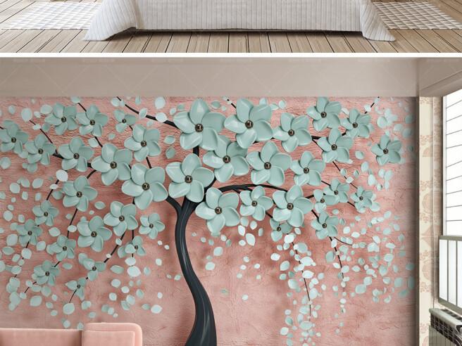 Фотообои Изящное дерево в цветах