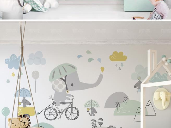 Слон на велосипедике