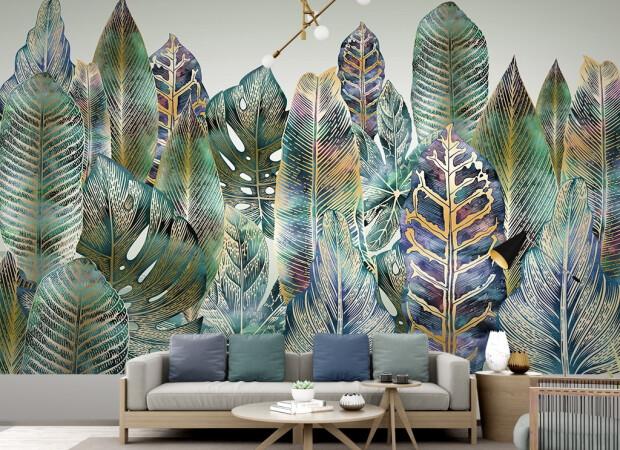 Лес из листьев