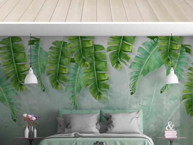 Фотообои Рваные листья пальм