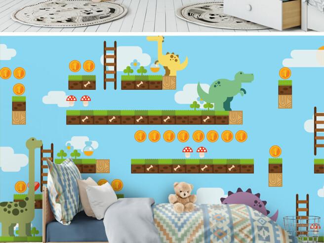 Компьютерная игра с динозаврами
