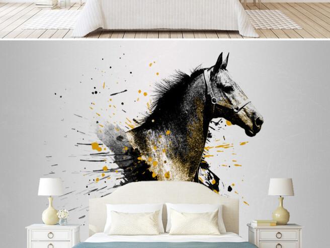 Фотообои Лошадь вкрасках