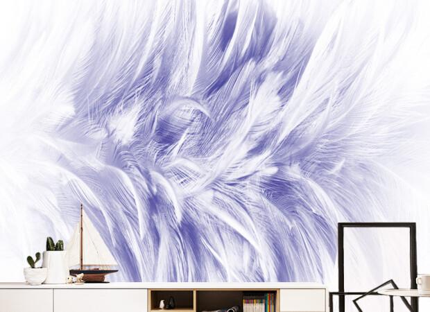 Бело-голубые перья