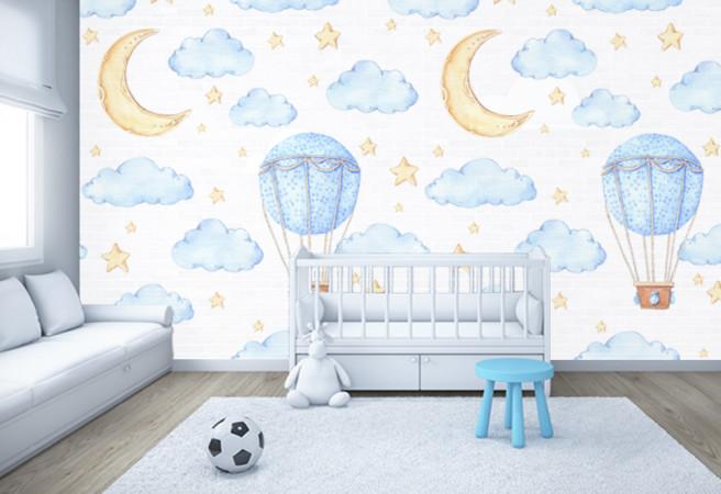 луна и воздушный шар