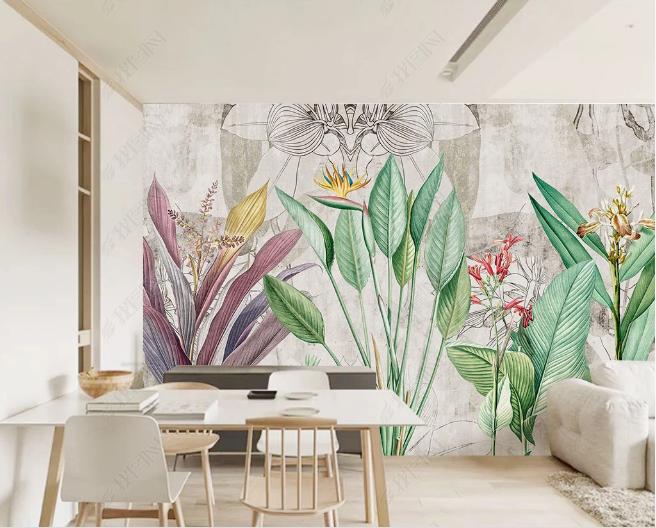 Фотообои тропическая фантазия на стене