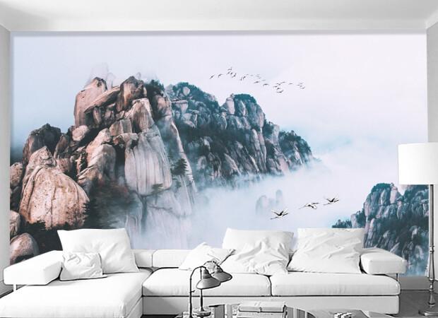 Три журавля летят среди гор