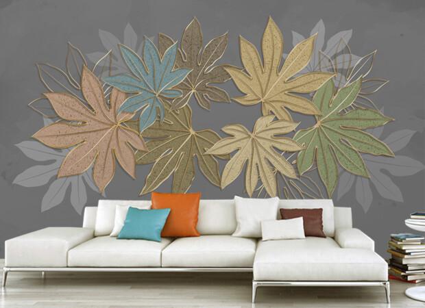 Разноцветные листья клена