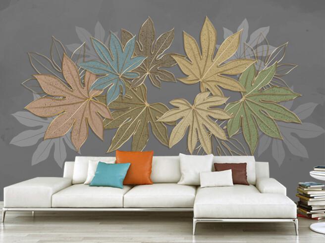 Фотообои Разноцветные листья клена