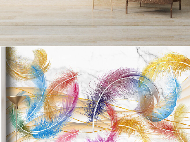 Фотообои Круглые перья