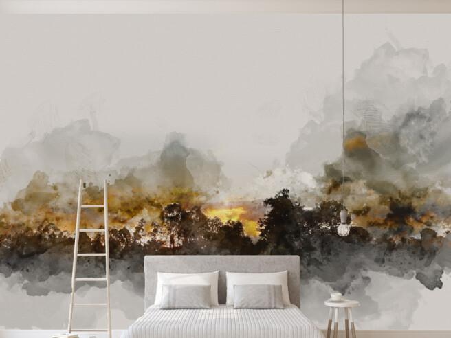 Фотообои Нарисованный закат