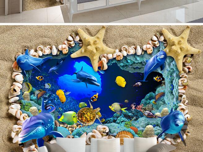 Фотообои Погружение в подводный мир