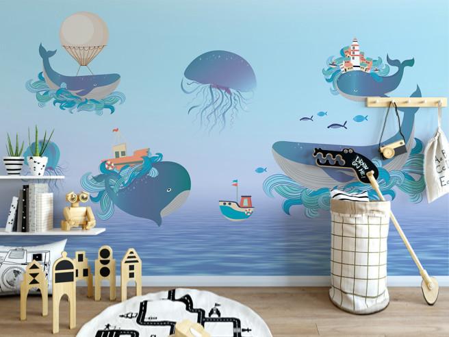 Четыре кита и медуза