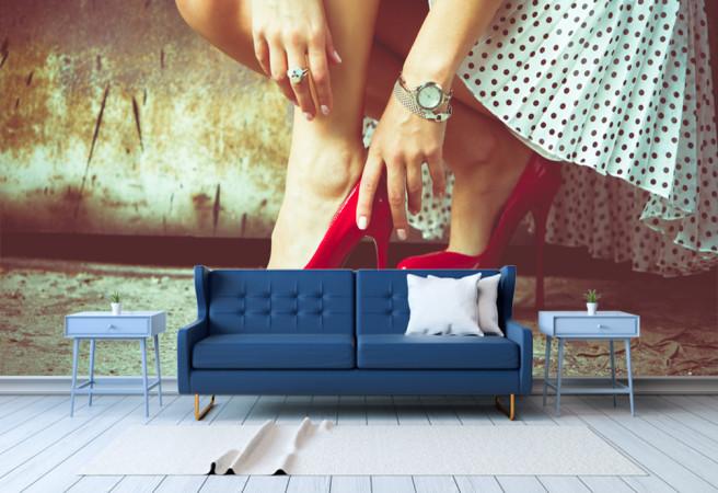 Фотообои Красные каблуки