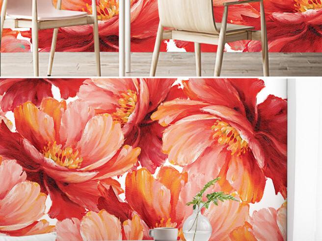 Фотообои Красные цветки