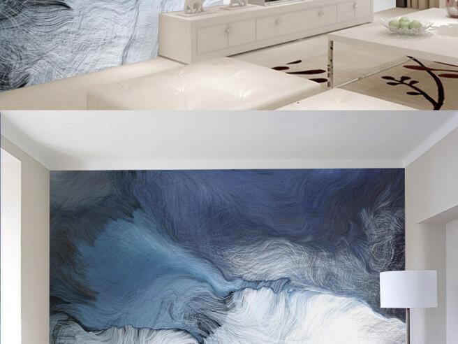Фотообои Бело-голубые волны