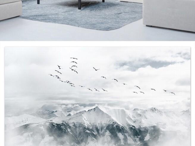 Фотообои Стаяптиц над горой