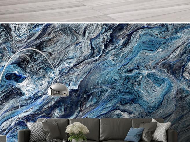 Фотообои Голубые краски гранита