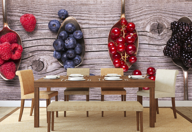 Фотообои 4 ягоды