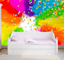 Фотообои разноцветные перья