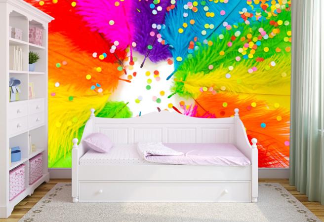 разноцветные перья