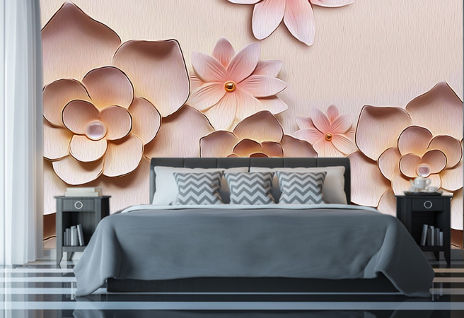 Фотообои цветы из глины