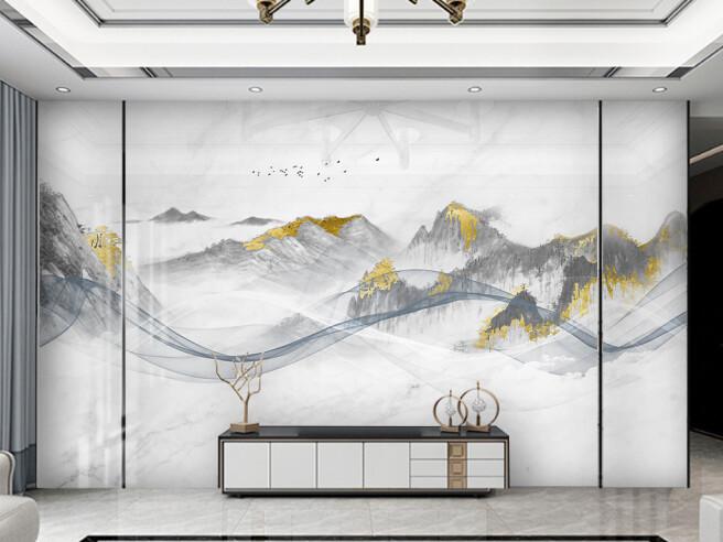 Фотообои Золотые вершины гор