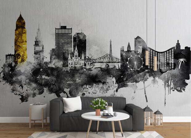 Золотая башня и черно-белый город