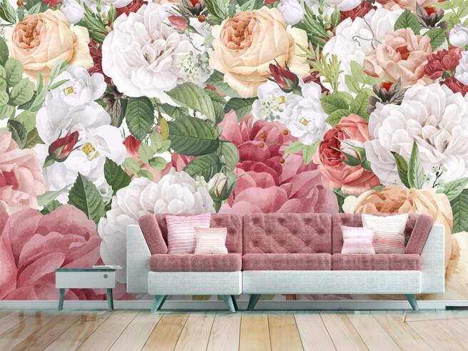 Фотообои Яркий сад цветов