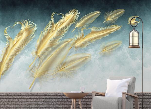 Золотые перья на ветру