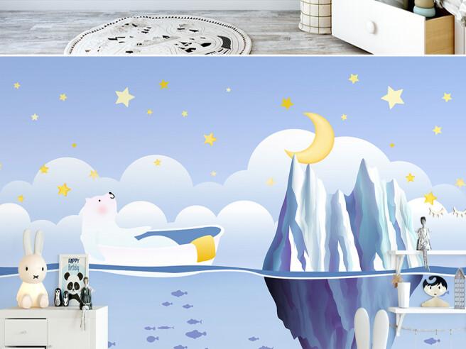 Фотообои Белый медведь и айсберг