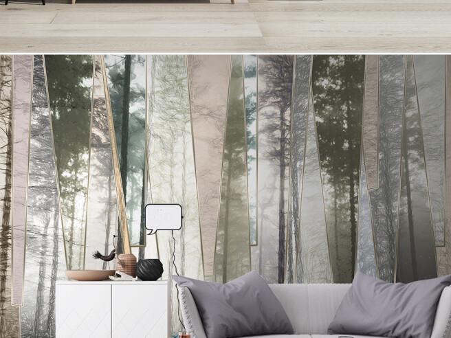 Лес за стеклом