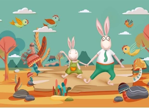 Зайцы на прогулке