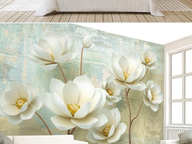 Белые цветы на тонких ножках