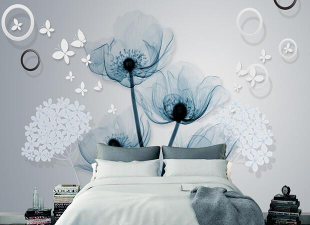 Прозрачно-голубой цветок