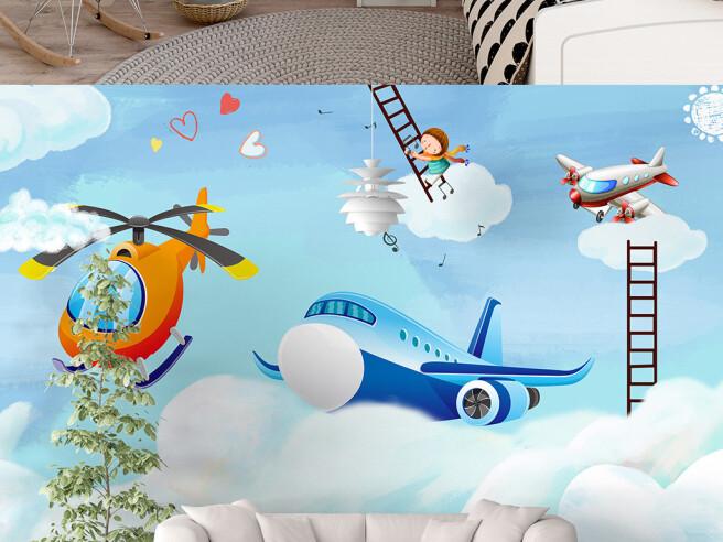 Самолет на облаке