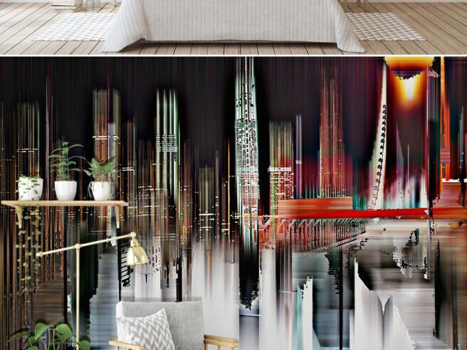 Фотообои Очертание города