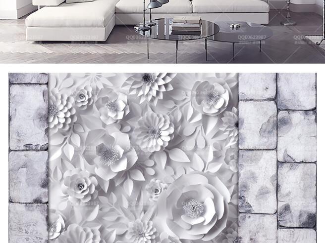 Фотообои Розы в бетонной стене